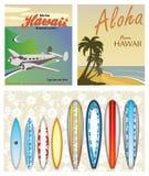 Thèmes hawaïens Images libres de droits