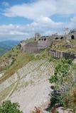 Théâtre antique dans des ruines de Pergamon Photographie stock libre de droits
