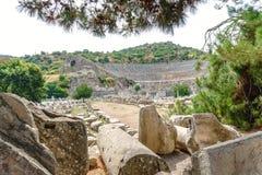 Théâtre antique dans la ville historique d'Ephesus photos libres de droits