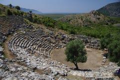 Théâtre antique de Kaunos, Turquie photo stock