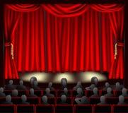 Théâtre avec l'assistance Images libres de droits