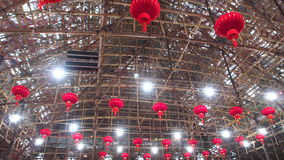 Théâtre chinois en bambou occidental d'opéra de Kowloon en Hong Kong Photos stock