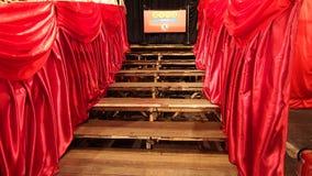Théâtre chinois en bambou occidental d'opéra de Kowloon en Hong Kong Image libre de droits