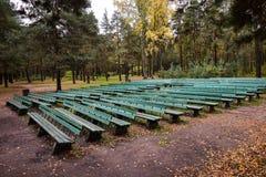 Théâtre d'été en parc d'automne Photo libre de droits