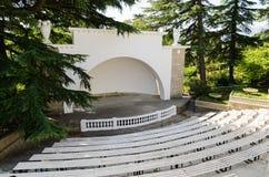 Théâtre d'été Jardin botanique de Nikitsky La Crimée, Yalta image libre de droits