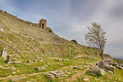 Théâtre d'Acropole, le grec ancien photographie stock