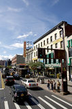 Théâtre d'Apollo et 125th rue, Harlem Photos libres de droits