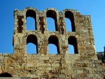 Théâtre d'Atticus de Herodes, Athènes Images libres de droits