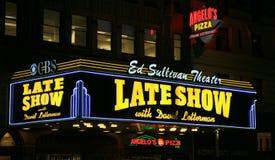 Théâtre d'Ed Sullivan la nuit Photos libres de droits