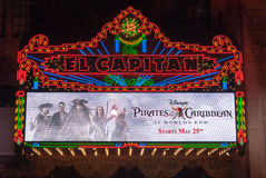 Théâtre d'EL Capitan Photographie stock libre de droits