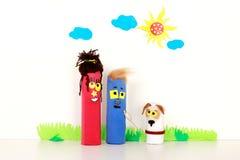 Théâtre d'enfants handmade Photo libre de droits