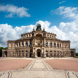 Théâtre d'opéra de Dresde Photos libres de droits