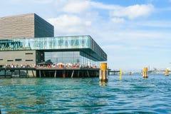 Théâtre danois royal de Copenhague de maison de théâtre dans un jour ensoleillé photo stock