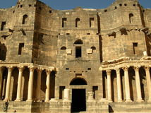 Théâtre dans Bosra, Syrie Photos stock