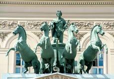 Théâtre de Bolshoi à Moscou images libres de droits