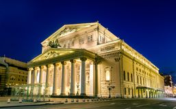 Théâtre de Bolshoi à Moscou par nuit - Russie photo stock