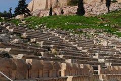 Théâtre de dionysus de dessous dans l'Acropole Images libres de droits