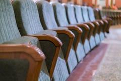 Théâtre de fauteuil Sièges classiques de théâtre profondément image libre de droits