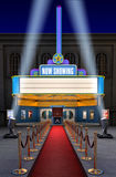 Théâtre de film et cadre de billet Images libres de droits