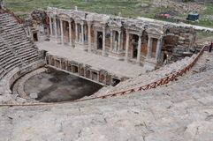 Théâtre de Hierapolis, Pamukkale, Denizli Photographie stock libre de droits