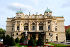 Théâtre de Juliusz Slowacki à Cracovie, Pologne Photographie stock libre de droits