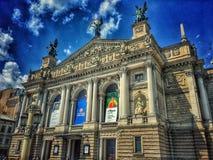 Théâtre de Lviv d'opéra et de ballet Photo stock