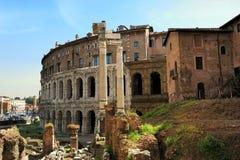 Théâtre de Marcellus et portique d'Octavia, Rome Images stock