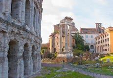 Théâtre de Marcellus, Rome Italie Image libre de droits
