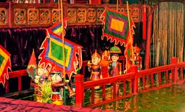 Théâtre de marionnettes à Hanoï, Vietnam Photo libre de droits