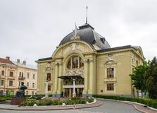 Théâtre de musique et de drame de Chernivtsi images stock