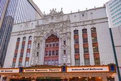 Théâtre de répertoire de l'Indiana à Indianapolis du centre, photos libres de droits