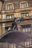 Théâtre de rue sur B-FIT dans la rue Bucarest 2015 Images libres de droits