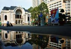 Théâtre de Saigon, théatre de l'opéra antique Photo stock
