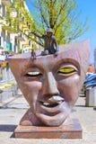 Théâtre de scènes de monument dans Bialystok, Pologne image libre de droits
