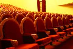 théâtre de sièges de lignes Photographie stock