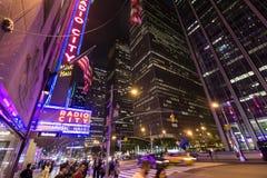 Théâtre de variétés par radio de ville à Manhattan Photographie stock