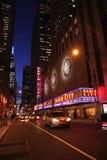 Théâtre de variétés par radio de ville Photos stock