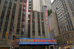 Théâtre de variétés par radio de ville, New York Images libres de droits