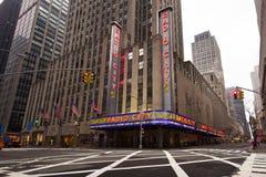 Théâtre de variétés par radio NYC de ville Image stock