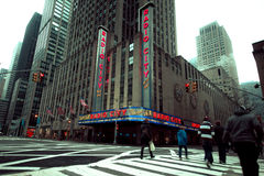 Théâtre de variétés par radio NYC de ville Image libre de droits