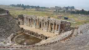 Théâtre de ville antique de Hierapolis Photos stock
