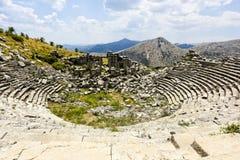 Théâtre de ville d'antiquité de SAGALASSOS dans Burdur, Turquie images stock