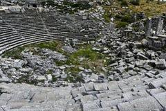 Théâtre de ville d'antiquité de SAGALASSOS dans Burdur, Turquie image libre de droits
