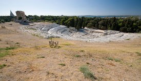 théâtre du grec ancien Photo libre de droits