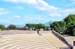 Théâtre en italien Pompeii l'Italie Photos stock