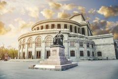 Théâtre Erevan d'opéra et de ballet Photographie stock libre de droits