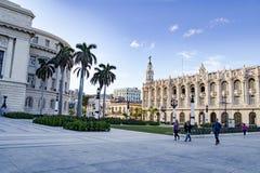 Théâtre et partie grands de capitol, La Havane, Cuba Photos stock