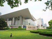 Théâtre grand de hai de Shang, un bâtiment de point de repère pendant l'après-midi s Images stock