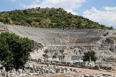 Théâtre grand de ville antique d'Ephesus Images stock