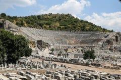 Théâtre grand de ville antique d'Ephesus Photos stock